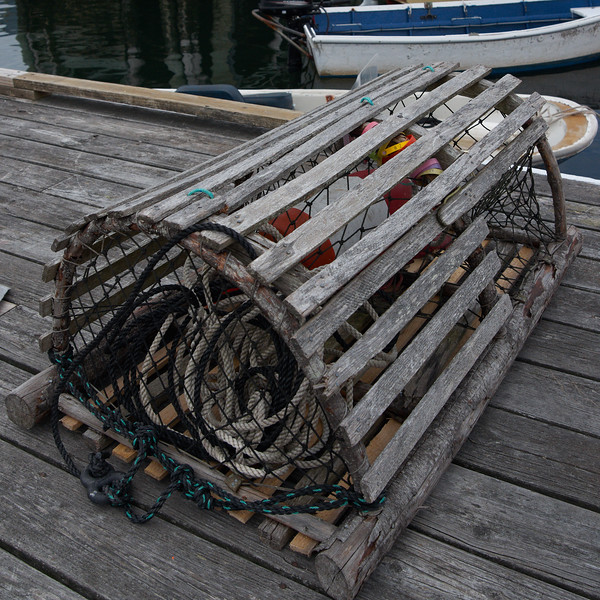 Lobster pot on the dock
