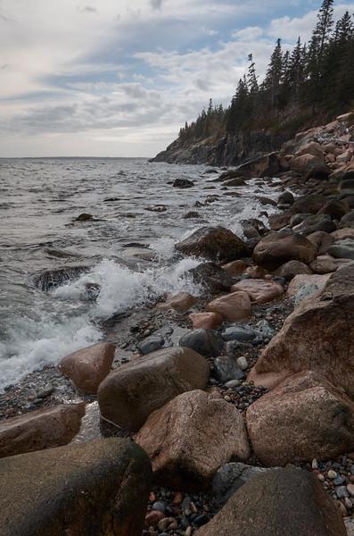 Rocky shore at Hunters Beach
