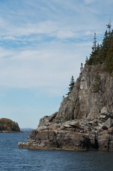 Island cliff