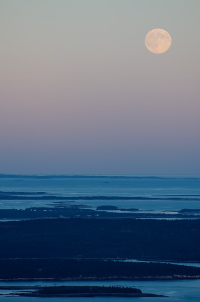 Moonrise on Mt Cadillac