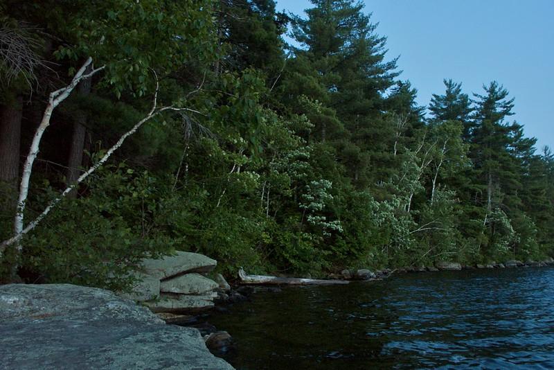Parker Pond at twilight