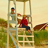 LifeGuards - Mayflower Beach, Dennis, MA <br /> Topaz Water Color