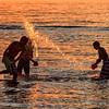 Water fun at Mayflower Beach, Dennis MA nearing sunset