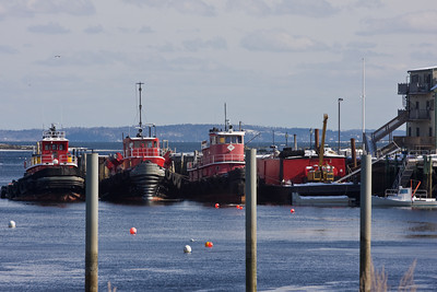 Tugboats in Belfast Harbor, Maine
