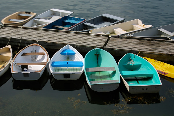 Rowboats in Perkins Cove, Ogunquit