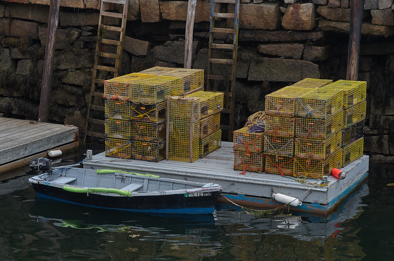 Lobster Pots on the Dock