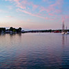 Summer sunset at Mystic Harbor, Connecticut