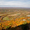 Autumn foliage viewed from atop Talcott Mountain, near Simsbury, Connecticut.