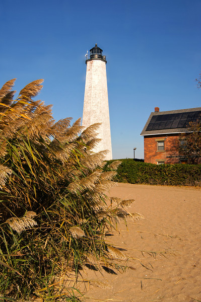 The New Haven Lighthouse at Lighthouse Point.