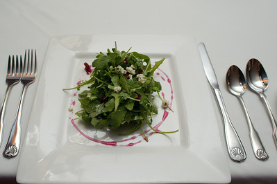 The arugula salad.  Where are my candied hazelnuts?!