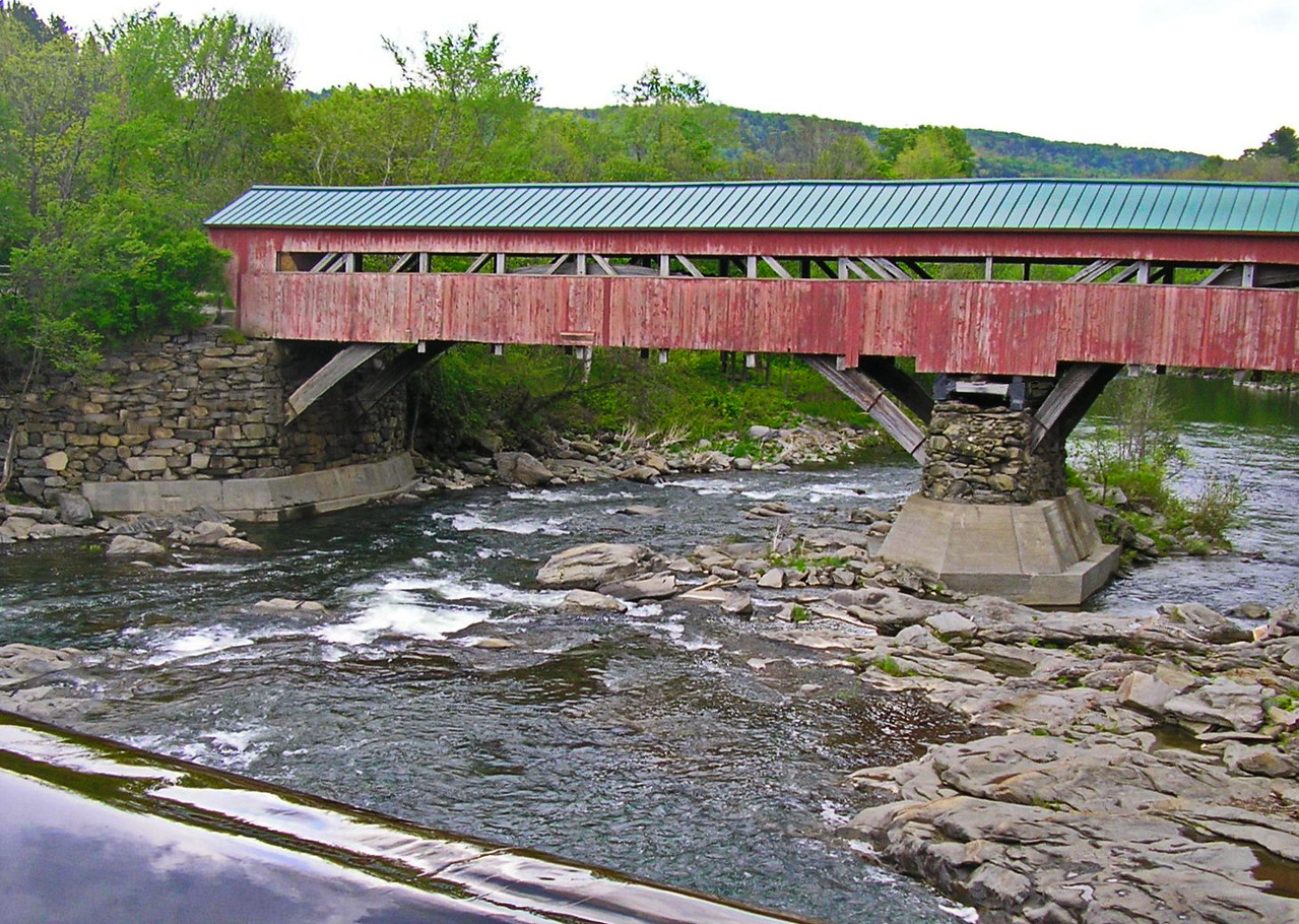 Taftsville Covered Bridge from the Dam
