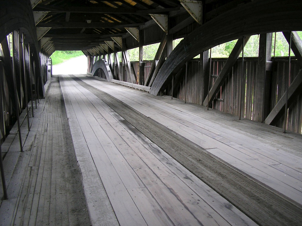 Taftsville Covered Bridge Interior