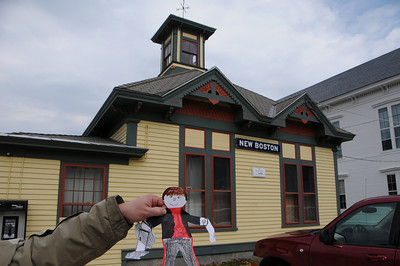 "Now Stanley has left Maine for New Hampshire. This is the Historical Society building in the town of New Boston. Bet it takes you a while to find this town on a map. It's not nearly as big as ""old"" Boston!"
