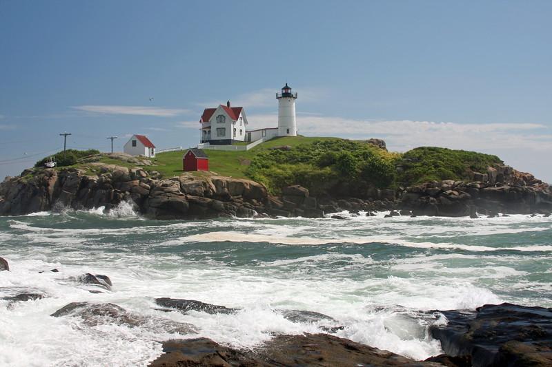 "Cape Neddick, Maine ""Nubble Light"" Hurricane Bill"