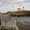 A place to relax at the Nubble Lighthouse; Cape Neddick, Maine.