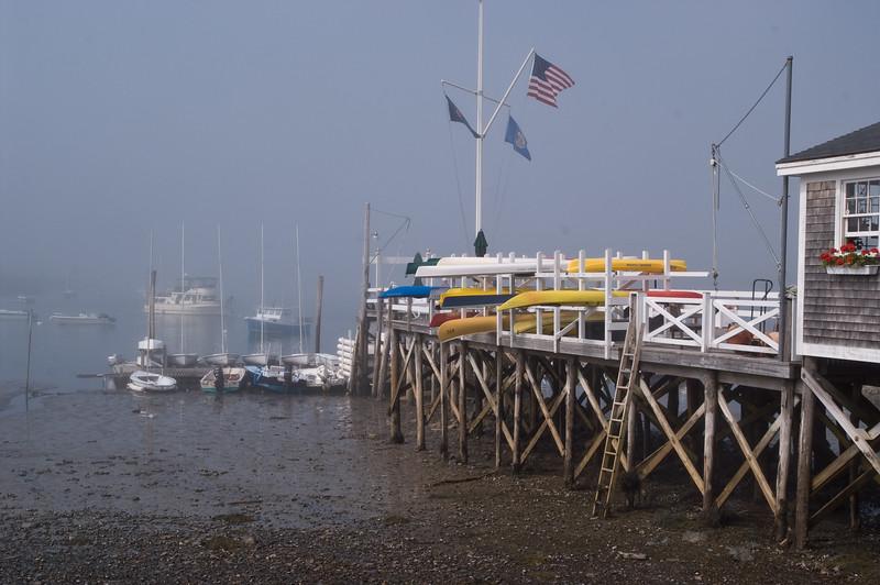 Dock with Kayaks