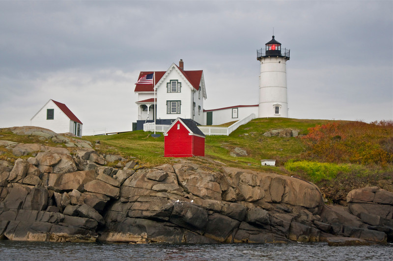 The Nubble Lighthouse was built in 1879 after Congress approved it in 1874 due to many boating accidents.  Cape Neddick, Maine.