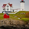 The Nubble Lighthouse was built in 1879.  Cape Neddick, Maine.