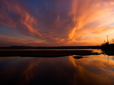 Sunset Reflections over the Parker River, Plum Island, MA