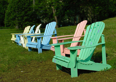 Pastel Adirondack Chairs, West Newbury, MA