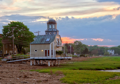 Joppa Flats house at sunset, Newburyport MA