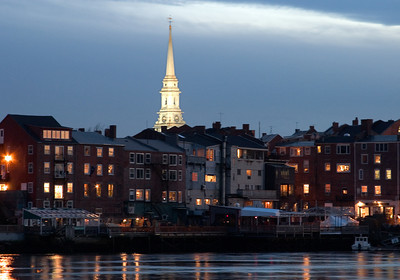 Portsmouth Harbor at Dusk