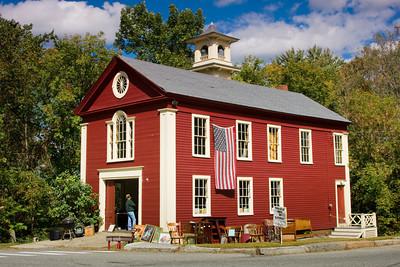 Yard Sale at a Restored Fire Station, Rocks Village, Massachusetts