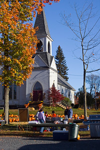 A Church Fair in Autumn, Byfield MA