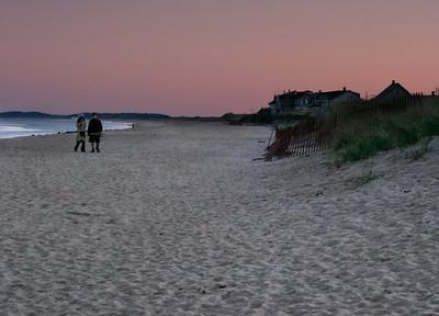 A Sunset Walk on the Beach, Plum Island MA