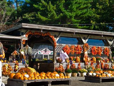 New England Farm Stand in Autumn, Hopkinton, Massachusetts