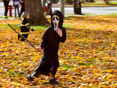 Children Playing on Halloween
