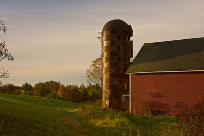 Barn and Silo at Sunrise, Newfields, New Hampshire