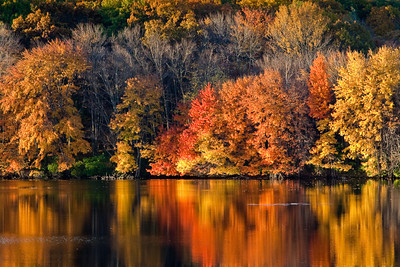 Autumn Reflections, Artichoke Reservoir, West Newbury, Massachusetts