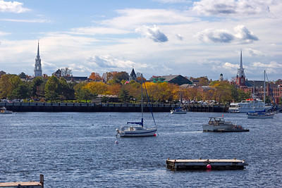 Newburyport Waterfront in Autumn