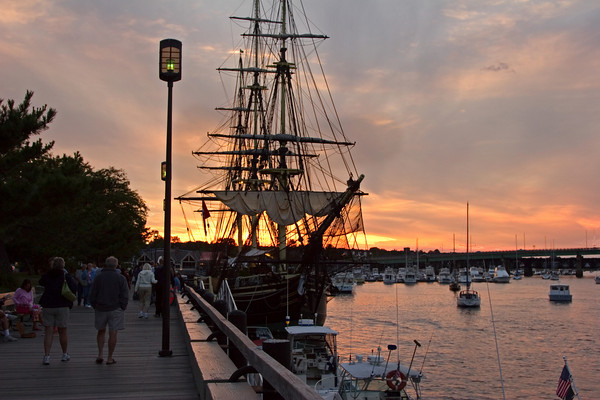 Tall Ship in Harbor, Newburyport, MA