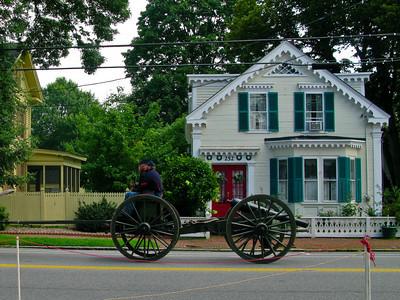 Civil War Cannon preparing for a Parade