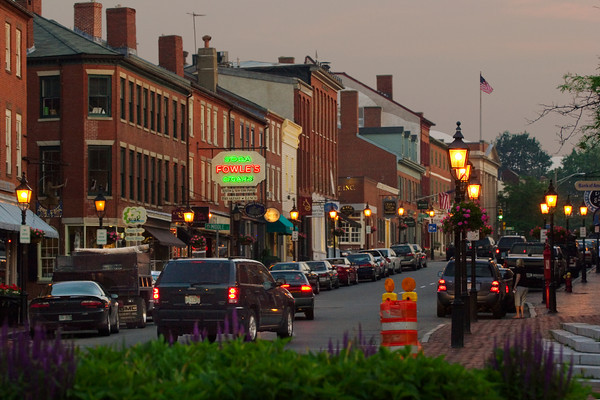 State Street at Dusk, Newburyport, Massachusetts