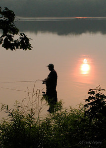 Fishing at Sunset, Artichoke Reservoir, Newburyport MA