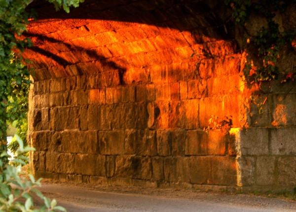 Sunset Reflects on an Abandoned Railroad Bridge, Salisbury, Massachusetts