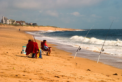 Surf Fishing on Plum Island, Newburyport, Massachusetts