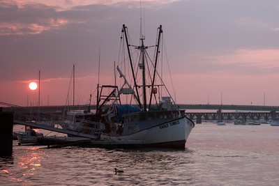 Fishing Boat At Dusk