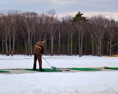 Driving Range in Winter