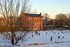 Ice Skating on the Local Pond, Newburyport MA