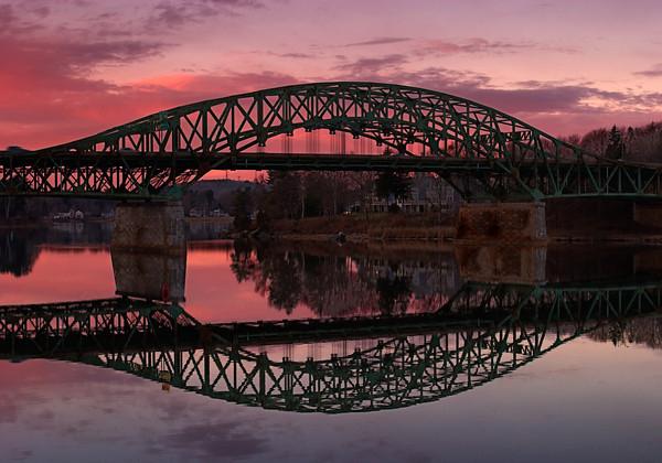 Whittier Bridge over the Merrimack River, Newburyport MA