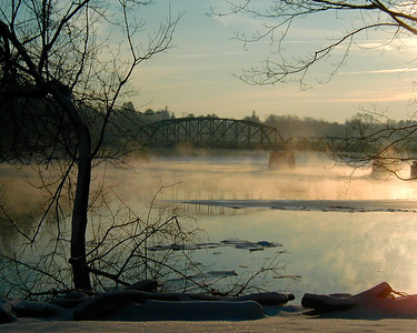 Merrimack River Sunrise, West Newbury, Massachusetts