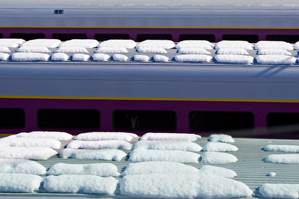 Snow on the Roof of Trains