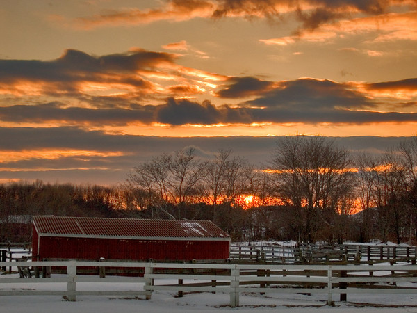 Horse Farm at Sunset, Newburyport MA