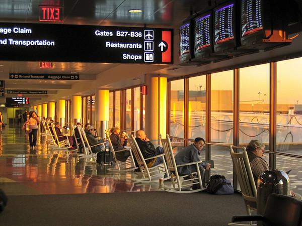 Sunrise in an Airport Waiting Room, Logan Airport, Boston