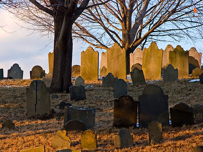 Old Headstones in a Cemetery, Newburyport MA