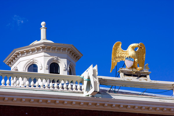 Gold Leaf Eagle on Top of Custom House, Salem, Massachusetts